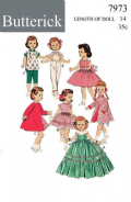 PDF Digital Download Vintage FULL SIZE Sewing Pattern to make a Wardrobe of Clothes for 14'' Dolls
